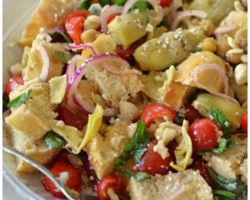 Mediterranean Ciabatta Bread Salad