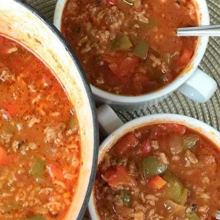 30 Minute Stuffed Pepper Soup