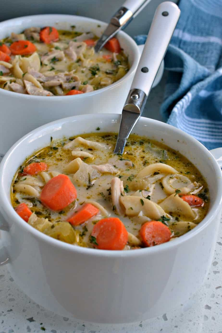 This Chicken Noodle Soup is easy, quick and so full of flavor.