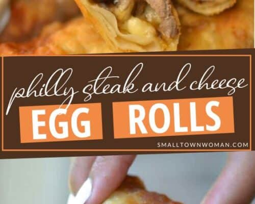 Philly Steak and Cheese Egg Rolls