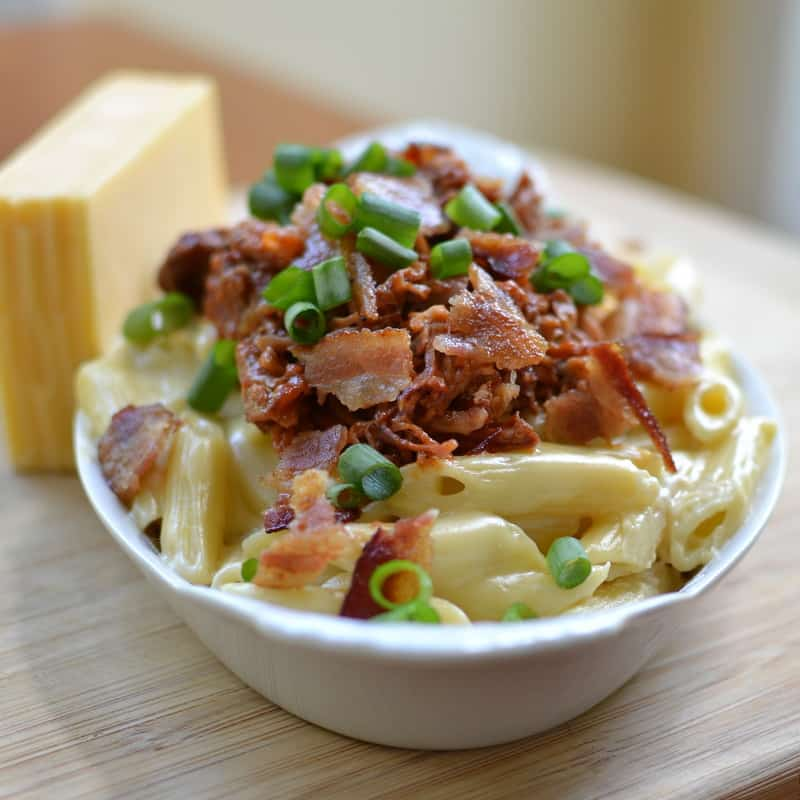 It Combines Creamy Gouda Cheese Sauce With Penne Pasta Already Smoked Pulled Pork Kansas City Barbecue Sauce Chili Paste