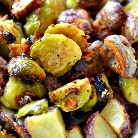Roasted Brussel Sprouts and Potatoes Recipe