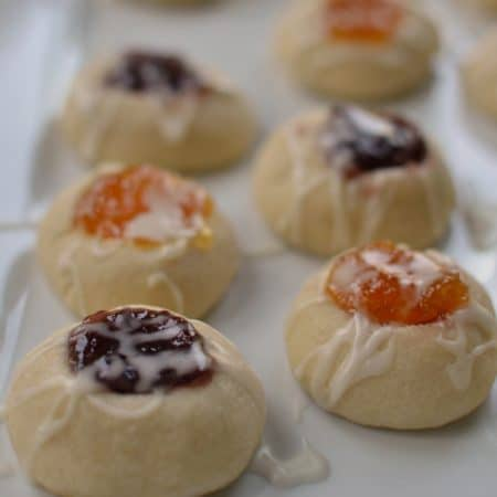 Jam Filled Shortbread Thumbprint Cookies