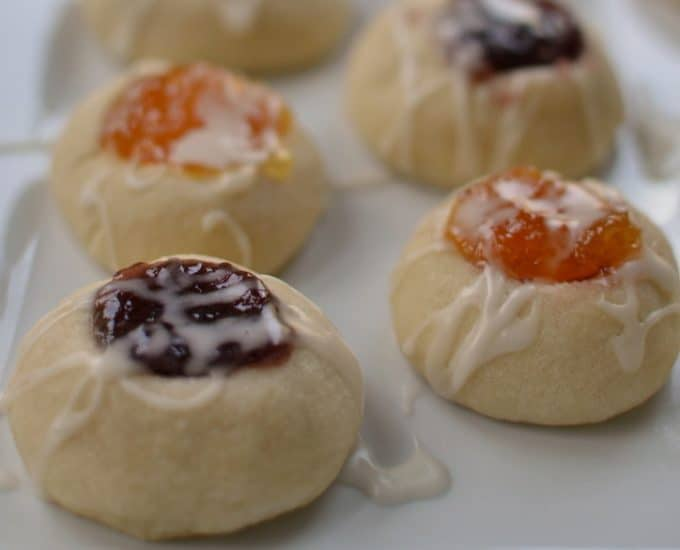 Jam Filled Shortbread Thumbprint Cookies