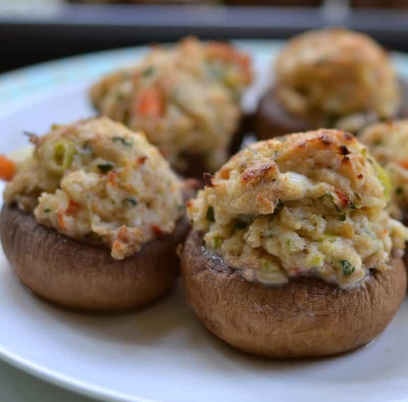 Quick and Creamy Crab Stuffed Mushrooms
