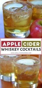 Apple Cider Whiskey Cocktails