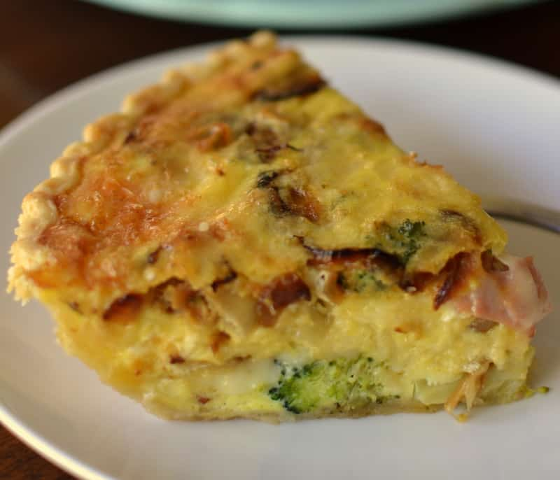This ham and broccoli quiche is the perfect breakfast or brunch recipe for a casual weekend gathering