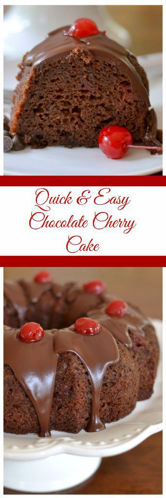 Quick And Easy Chocolate Cherry Cake Small Town Woman