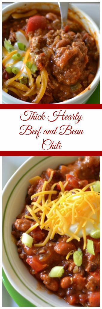Thick Hearty Beef And Bean Chili Small Town Woman