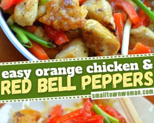 Easy Orange Chicken and Red Bell Peppers