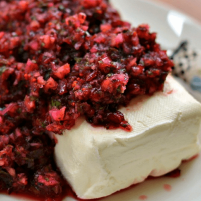 Five Minute Festive Cranberry Salsa
