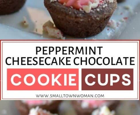 Peppermint Cheesecake Chocolate Cookie Cups