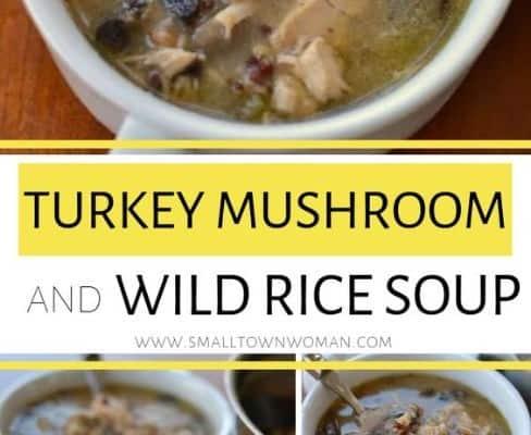 Turkey Mushroom and Wild Rice Soup