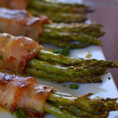Honey Mustard Asparagus Bacon Bundles