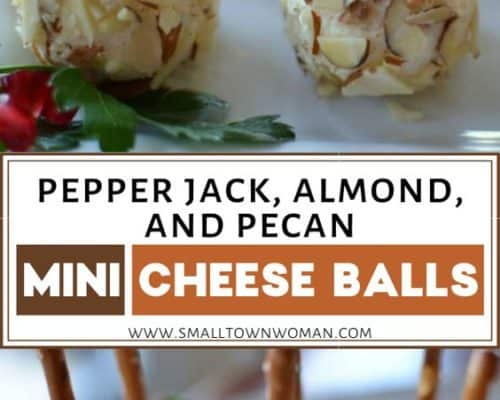 Pepper Jack Almond and Pecan Mini Cheese Balls
