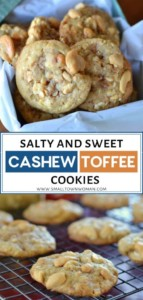 Salty and Sweet Cashew Toffee Cookies