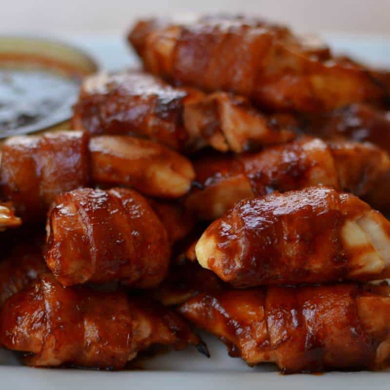 Sweet BBQ Wrapped Chicken Bites
