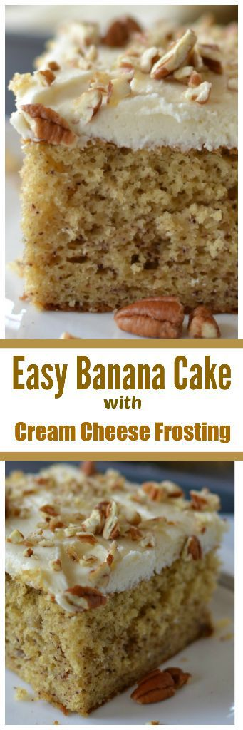 Easy Banana Cake With Cream Cheese Frosting Small Town Woman