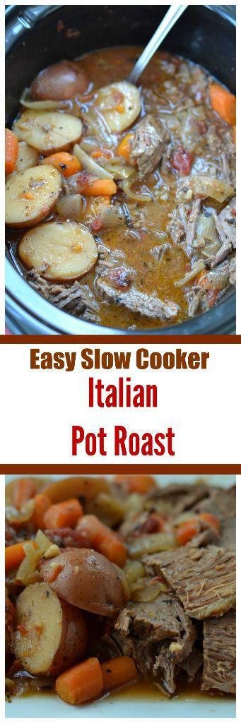Easy Slow Cooker Italian Pot Roast Small Town Woman