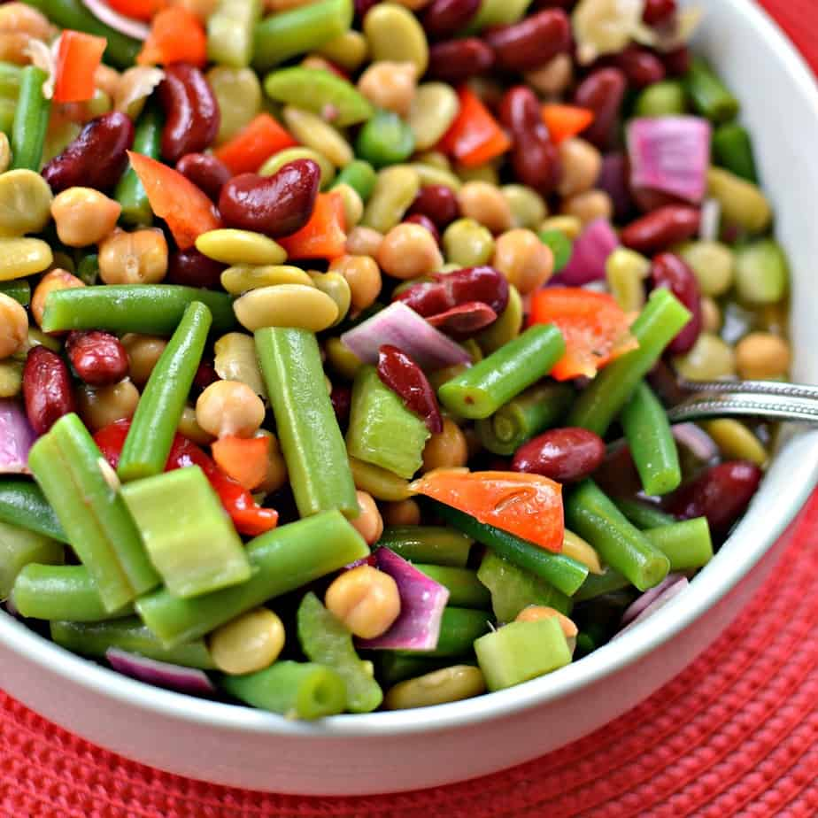 I like to serve this zest bean salad with grilled chicken, pork steaks and ribs.