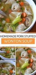 Pork Stuffed Wonton Vegetable Soup