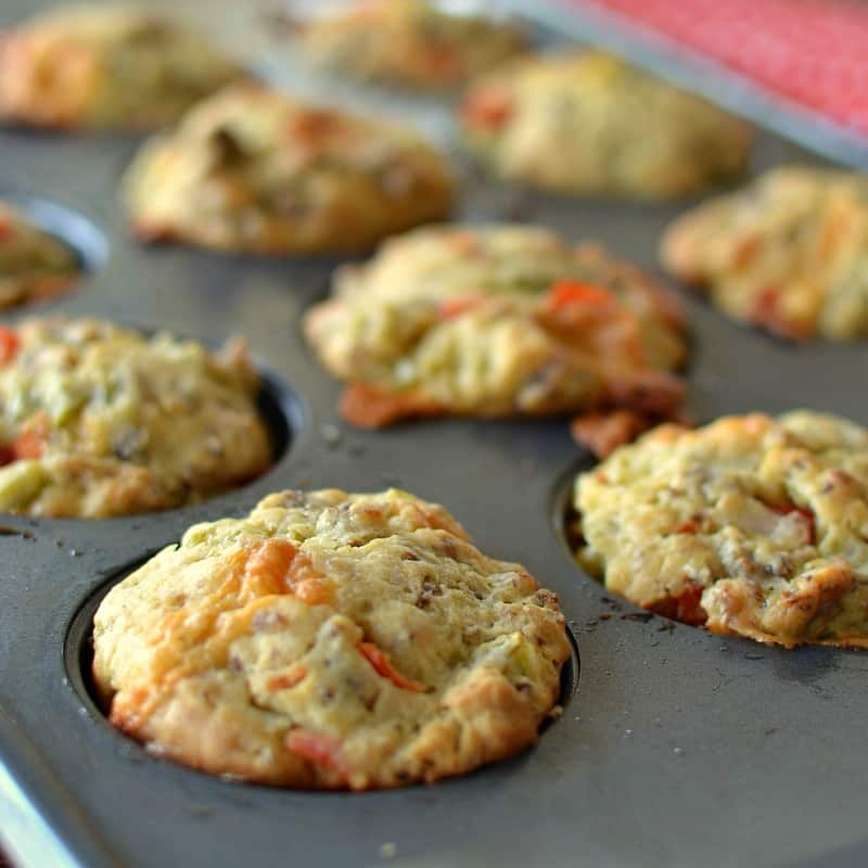 On the Go Sausage Cheddar Breakfast Muffins