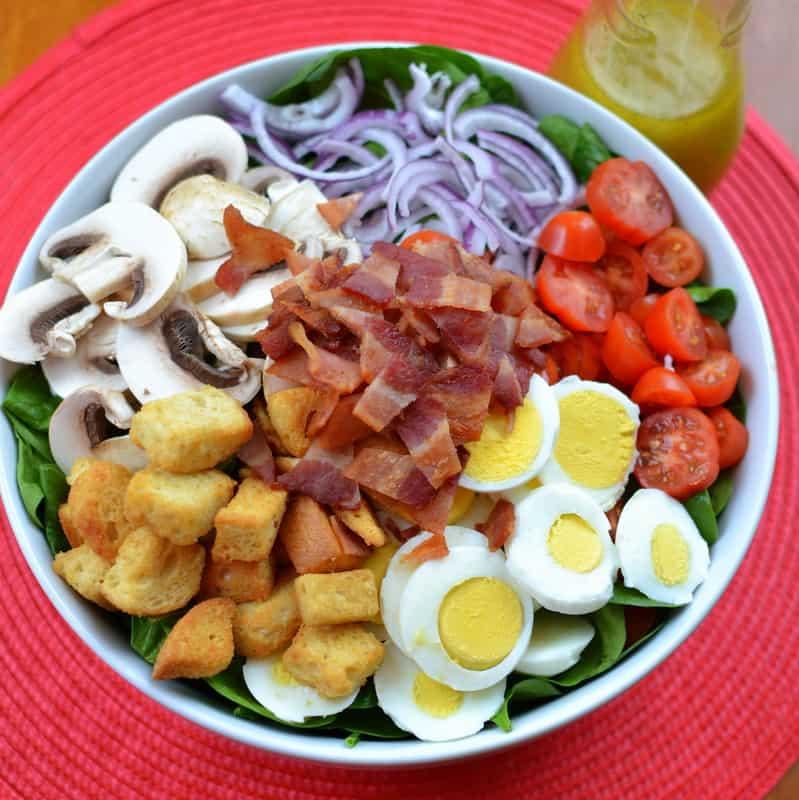 Spinach Salad Warm Honey Mustard Vinaigrette