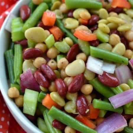 Zesty Sweet Four Bean Salad