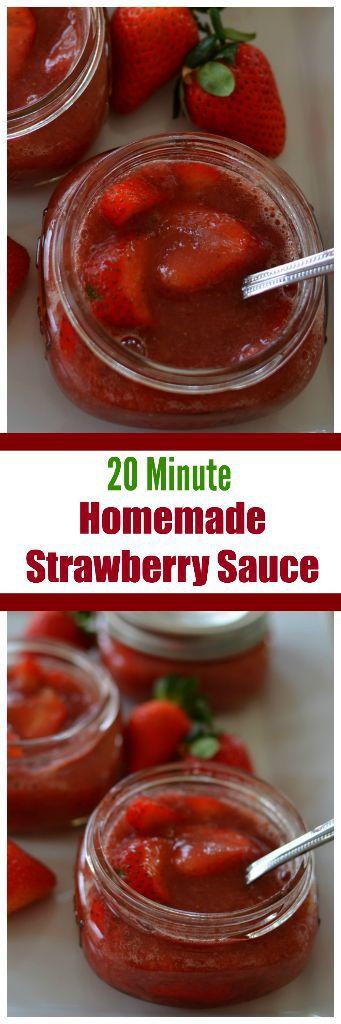 20 Minute Homemade Strawberry Sauce