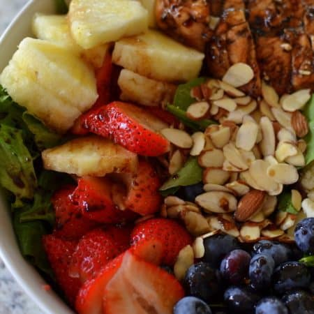 Balsamic Chicken Berry Salad