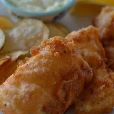 Beer Battered Fried Cod with Fresh Chips