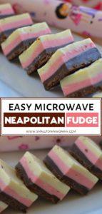 Easy Microwave Neapolitan Fudge