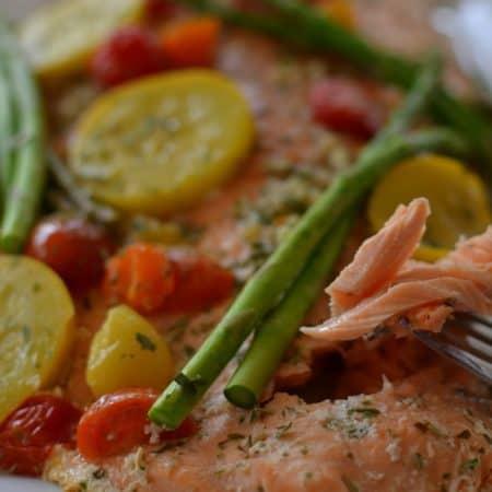 Grilled Garlic Tarragon Lemon Salmon