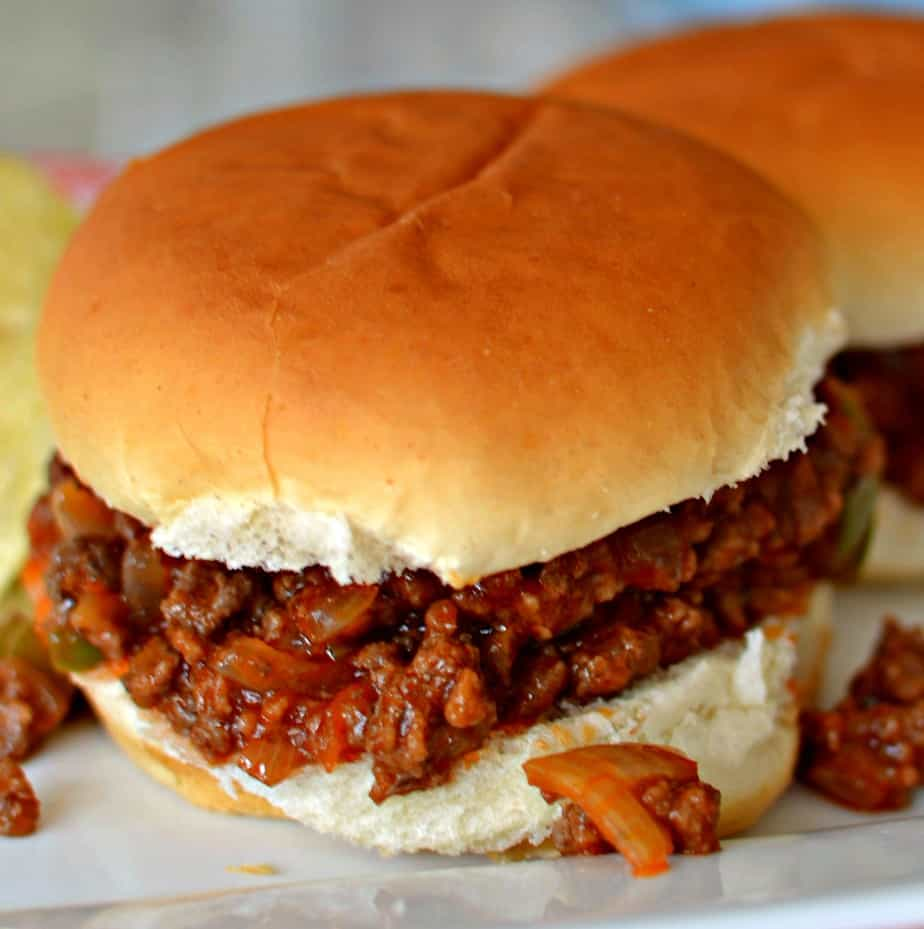 A delectable family friendly easy weeknight Homemade Sloppy Joes made with many common pantry ingredients.