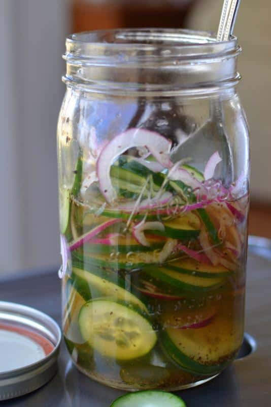These marinated pickles and onions are the perfect garnish for grilling season