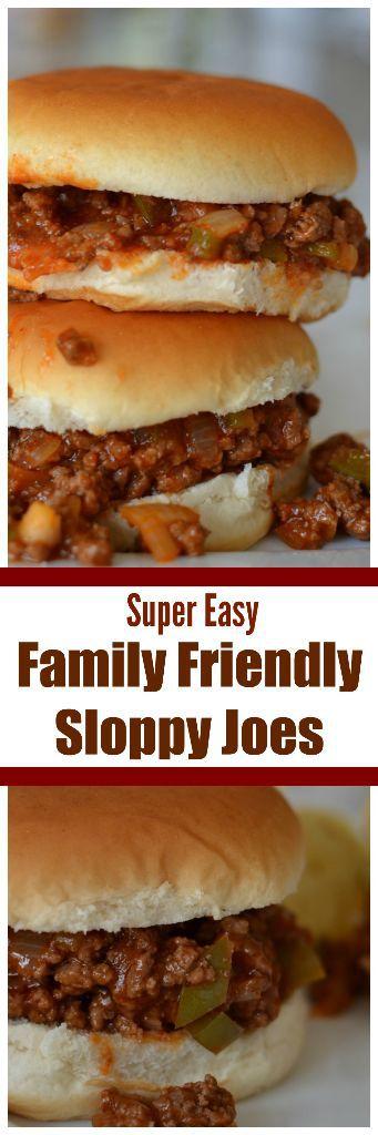 Super Easy Family Friendly Sloppy Joes