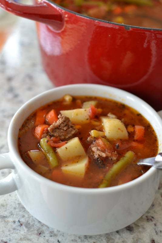 Vegetable Beef Soup with Hamburger