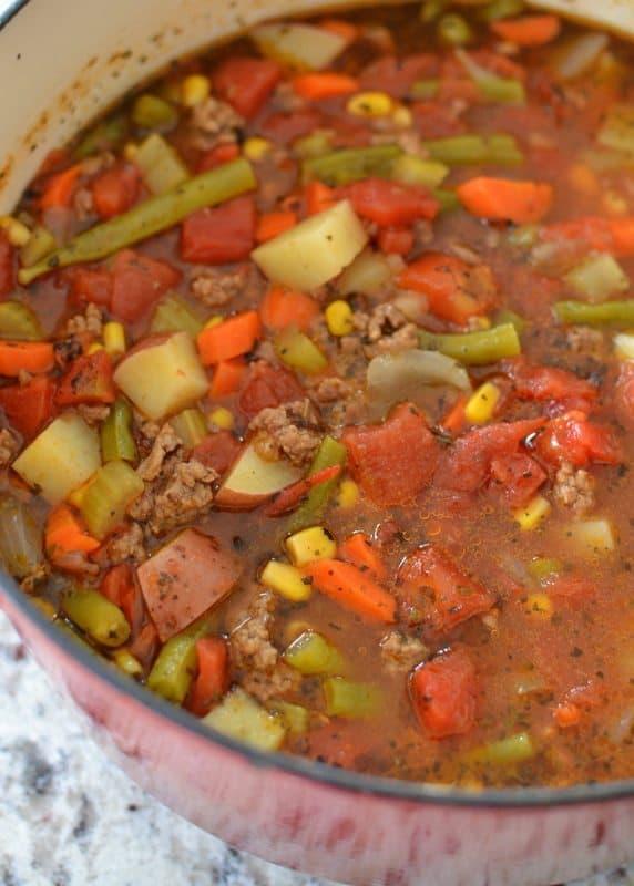 Homemade Hamburger Vegetable Soup