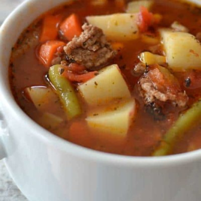Easy Hamburger Vegetable Soup