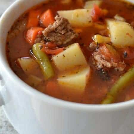 Easy Hamburger Vegetable Soup