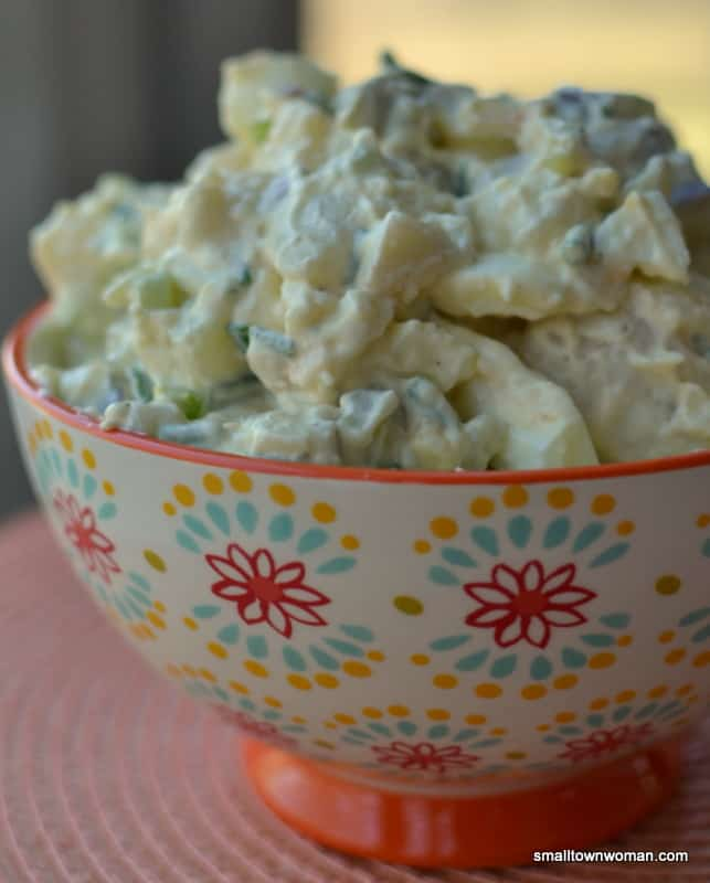 You've got to try this sweet, tangy dill pickle potato salad for your next dinner, party, or picnic