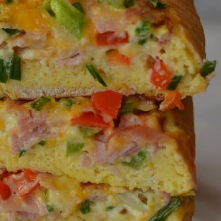 Ham and Veggie Breakfast Boats