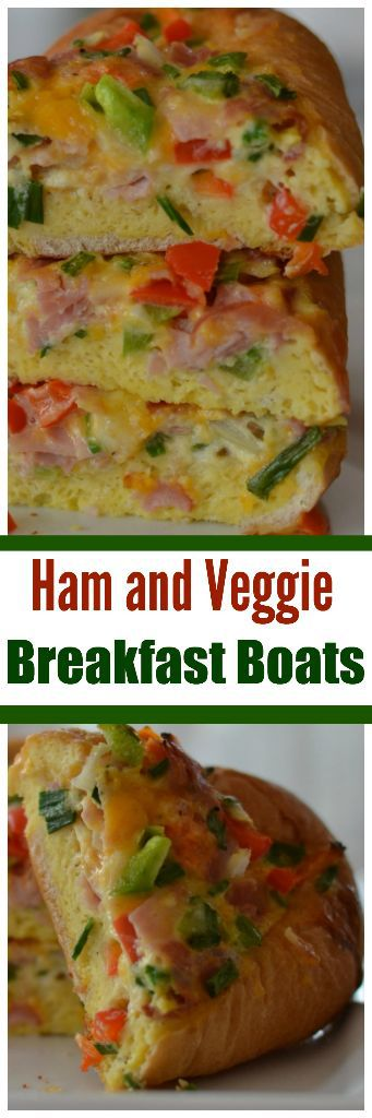 Ham and Veggie Breakfast Boats