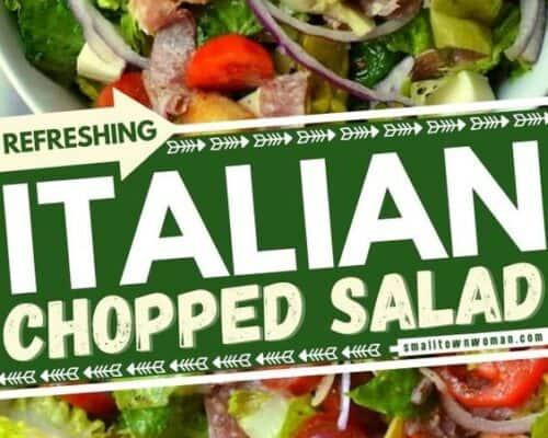 Italian Chopped Salad with Fresh Italian Dressing