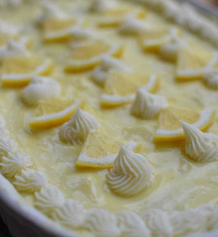 Lemon Pudding Poke Cake Small Town Woman