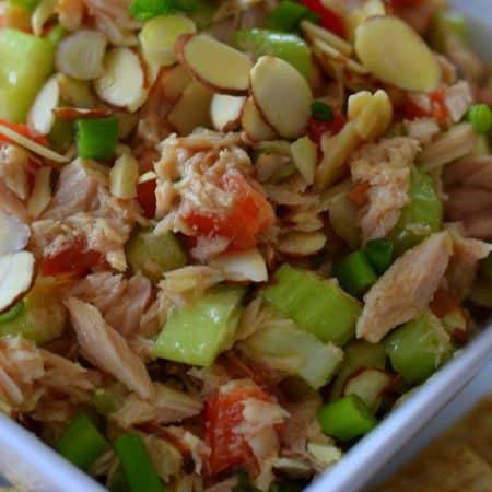 No Mayo Almond Ginger Tuna Salad