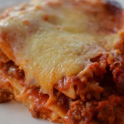 Weeknight Four Cheese and Sausage Lasagna
