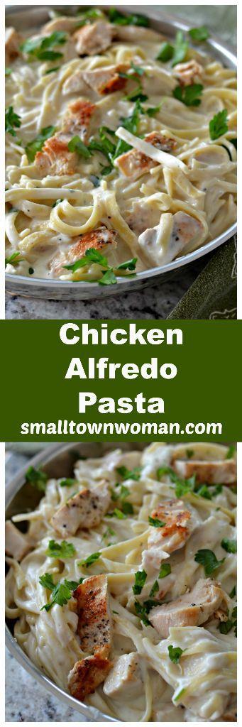 Easy Skillet Chicken Alfredo Pasta
