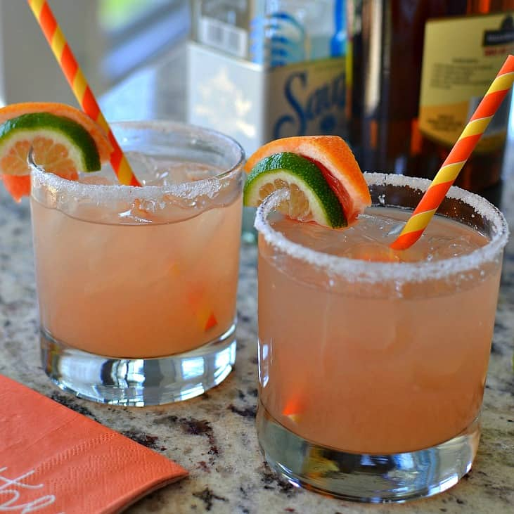 This refreshing grapefruit margarita comes together in just a couple of minutes.