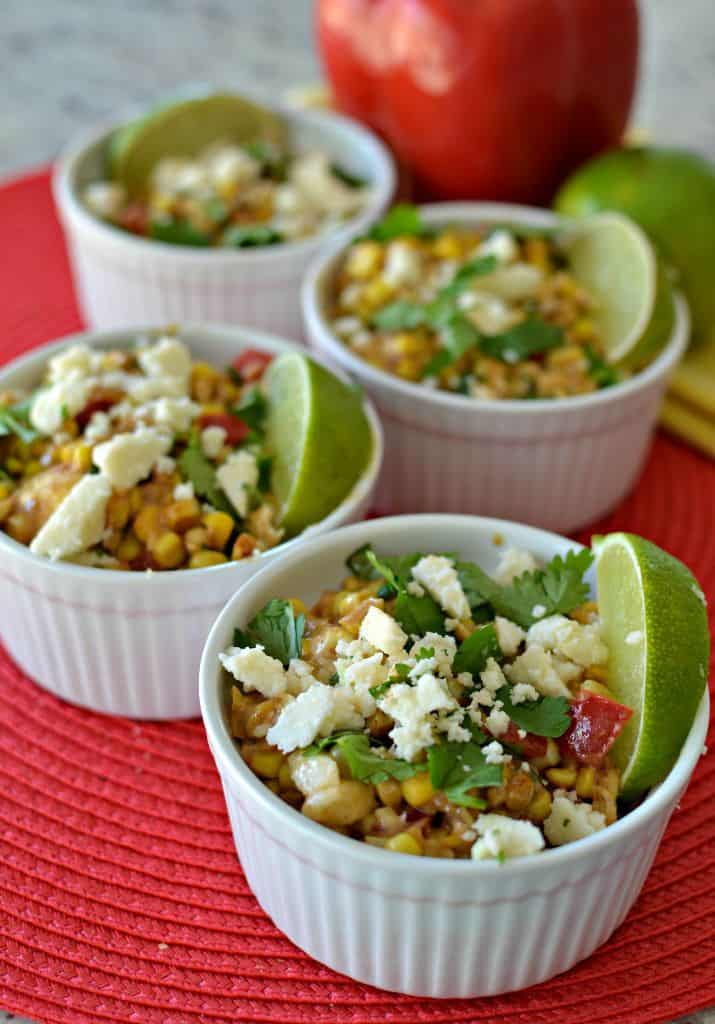This easy mexican street corn salad recipe is perfect for summer parties and barbecues